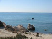 Βράχος Aphrodite, Πάφος, Κύπρος Στοκ Εικόνα