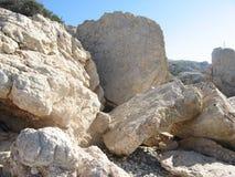 Βράχος Aphrodite, Πάφος, Κύπρος Στοκ Φωτογραφία