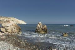 Βράχος Aphrodite στη Κύπρο Στοκ εικόνες με δικαίωμα ελεύθερης χρήσης