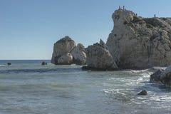 Βράχος Aphrodite στη Κύπρο Στοκ Φωτογραφίες