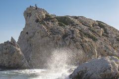 Βράχος Aphrodite στη Κύπρο Στοκ φωτογραφία με δικαίωμα ελεύθερης χρήσης