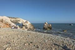 Βράχος Aphrodite στη Κύπρο Στοκ Εικόνες