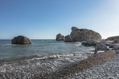 Βράχος Aphrodite στη Κύπρο Στοκ Φωτογραφία