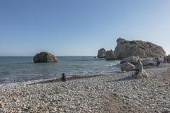 Βράχος Aphrodite στη Κύπρο Στοκ εικόνα με δικαίωμα ελεύθερης χρήσης