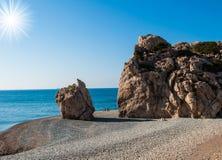 Βράχος Aphrodite Στοκ φωτογραφία με δικαίωμα ελεύθερης χρήσης