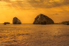 Βράχος Aphrodite ` s - Πάφος Στοκ Εικόνες