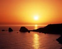 Βράχος Aphrodites, Petra Tou Romiou, Κύπρος. Στοκ εικόνες με δικαίωμα ελεύθερης χρήσης