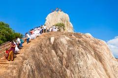 Βράχος Aradhana Gala Mihintale Στοκ εικόνες με δικαίωμα ελεύθερης χρήσης
