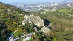 Βράχος Hasampoulia Περιοχή της Πάφος, Κύπρος απόθεμα βίντεο