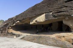 βράχος mumbai kanheri της Ινδίας σπηλιών Στοκ εικόνες με δικαίωμα ελεύθερης χρήσης