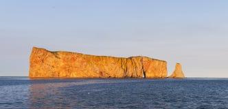 Βράχος Perce στο ηλιοβασίλεμα Στοκ Εικόνες