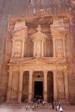 βράχος PETRA της Ιορδανίας πόλ& Στοκ Φωτογραφίες