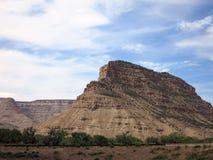 Βράχος Plateu του Κολοράντο και δραματικός ουρανός Στοκ εικόνες με δικαίωμα ελεύθερης χρήσης