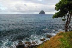 Βράχος Rocher, νησί διαμαντιών της Μαρτινίκα Στοκ φωτογραφία με δικαίωμα ελεύθερης χρήσης
