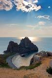 Βράχος Samanka στο νησί Olkhon. HDR Στοκ Φωτογραφίες