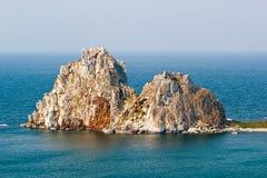 Βράχος Samanka στο νησί Olkhon Στοκ εικόνες με δικαίωμα ελεύθερης χρήσης