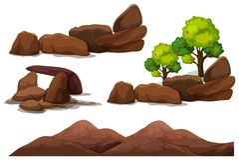 Βράχος Stone και στοιχείο βουνών ελεύθερη απεικόνιση δικαιώματος