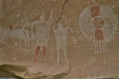 βράχος Utah τέχνης στοκ εικόνες