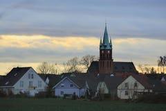 Βράδυ Cloudscape πέρα από Ottersleben Στοκ φωτογραφία με δικαίωμα ελεύθερης χρήσης