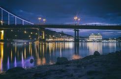 Βράδυ Podil, Κίεβο, Ουκρανία Στοκ Φωτογραφίες