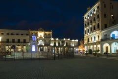Βράδυ Vieja Αβάνα Plaza Στοκ φωτογραφία με δικαίωμα ελεύθερης χρήσης