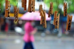 Βρέχοντας ημέρα σε Quibao Στοκ Φωτογραφίες