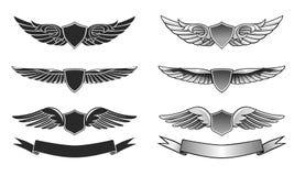 Βραβεία που τίθενται φτερωτά διανυσματική απεικόνιση
