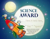 Βραβείο επιστήμης Στοκ Εικόνα