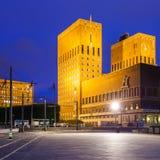 βραβείο θέσεων ειρήνης Νόμπελ Όσλο αιθουσών πόλεων τελετής Στοκ Εικόνα