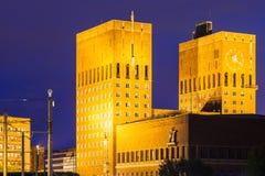 βραβείο θέσεων ειρήνης Νόμπελ Όσλο αιθουσών πόλεων τελετής Στοκ φωτογραφία με δικαίωμα ελεύθερης χρήσης