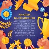 Βραβείο και αφίσα βραβείων ελεύθερη απεικόνιση δικαιώματος