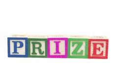 βραβείο ομάδων δεδομένων αλφάβητου Στοκ Φωτογραφία