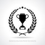 Βραβείο φλυτζανιών νικητών απεικόνιση αποθεμάτων