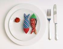 βραδυνό ψαριών Στοκ Εικόνες