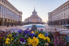 Βραδύτατος και κτήρια στη Sofia και κτήρια στη Sofia στοκ εικόνα