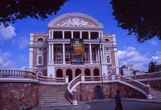 Βραζιλία: Η όπερα του Manaus στοκ εικόνα με δικαίωμα ελεύθερης χρήσης