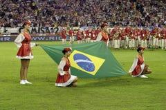 βραζιλιάνα σημαία Στοκ Φωτογραφία