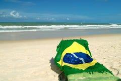 βραζιλιάνα σημαία Στοκ εικόνα με δικαίωμα ελεύθερης χρήσης