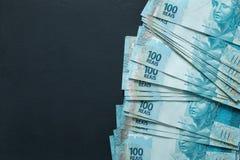 Βραζιλιάνα χρήματα, μετονομασίες 100 reais στοκ εικόνες με δικαίωμα ελεύθερης χρήσης