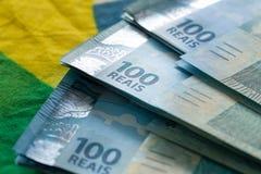 Βραζιλιάνα χρήματα, μετονομασίες 100 reais στοκ φωτογραφίες με δικαίωμα ελεύθερης χρήσης