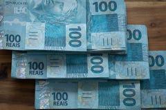 Βραζιλιάνα χρήματα, μετονομασίες 100 reais στοκ φωτογραφία με δικαίωμα ελεύθερης χρήσης