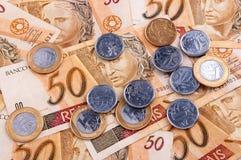 βραζιλιάνα χρήματα στοκ εικόνες