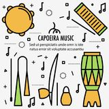 Βραζιλιάνα όργανα μουσικής Capoeira διανυσματική απεικόνιση