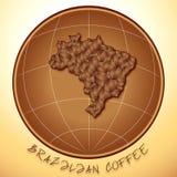 βραζιλιάνος καφές Στοκ Εικόνες