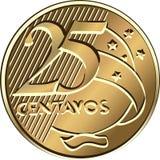 βραζιλιάνο νόμισμα πέντε centavo &delt απεικόνιση αποθεμάτων