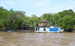 Βραζιλία, τροπικό δάσος/Αμαζόνιος: Σπίτι προκυμαιών Στοκ εικόνες με δικαίωμα ελεύθερης χρήσης