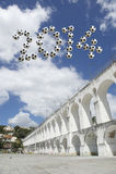 Βραζιλία 2014 Arcos DA Lapa μηνυμάτων ποδοσφαίρου Ρίο ντε Τζανέιρο αψίδων Στοκ εικόνα με δικαίωμα ελεύθερης χρήσης