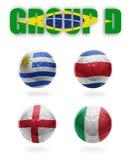Βραζιλία. Realistic Football ομάδας Δ. σφαίρες Στοκ Εικόνα