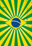 Βραζιλιάνα αφίσα ηλιαχτίδων. Στοκ Φωτογραφίες