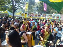 Βραζιλιάνα ημέρα Ιαπωνία Στοκ εικόνες με δικαίωμα ελεύθερης χρήσης